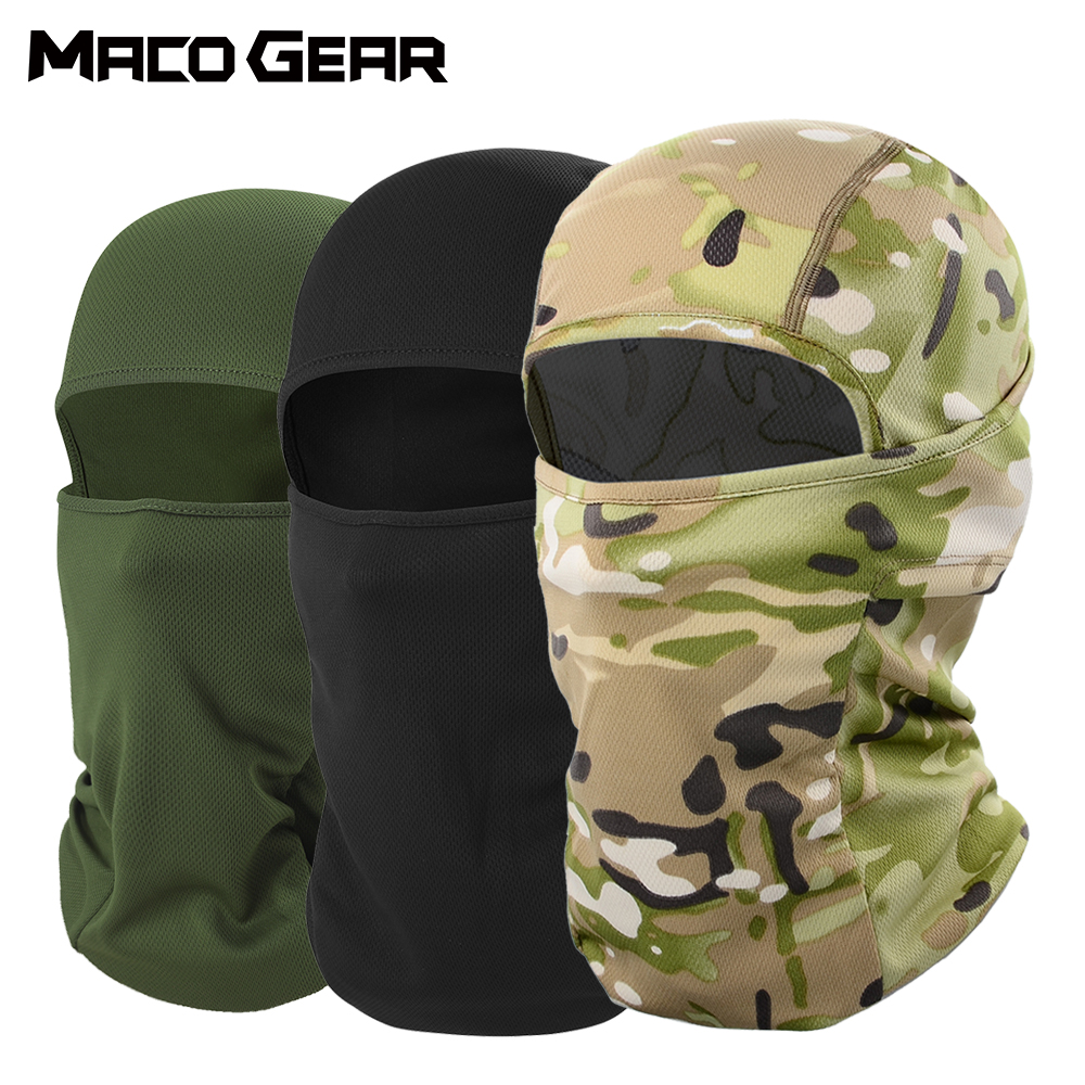 Outdoor Camo Cycling Balaclava Full Face Mask Bicycle Ski Bike Snowboard Sport Cover Hiking Tactical Military Hat Cap Men Women