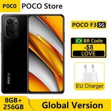 POCO F3 – Smartphone 5G, Version globale, 8 go 256 go, Snapdragon 870 Octa Core, NFC, écran AMOLED 6.67 pouces, E4 120Hz, Triple caméra 48mp, 33W