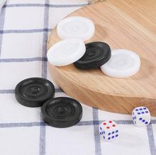 100% 25 Brand New и High Quality 30pcs Black +% 26 White Backgammon Chess Plastic International Drafts Checkers