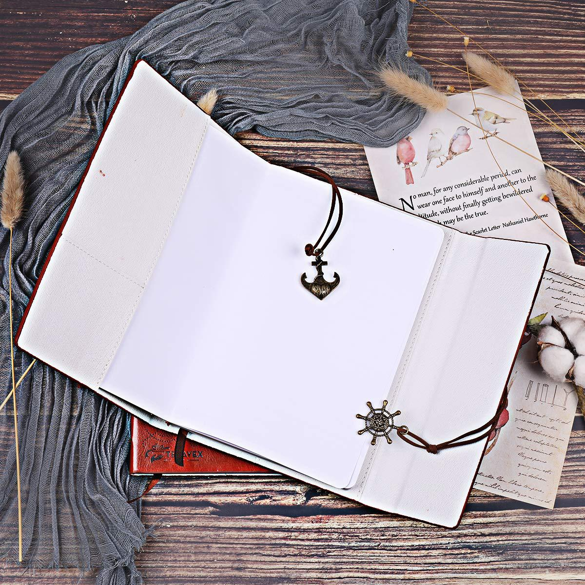 Image 4 - Creative 2020 Mom to Daughter Notebook Gift Refillable Meeting Notebook Diary Notepad Vintage Pirate Anchors PU Leather Notebook-in Notebooks from Office & School Supplies