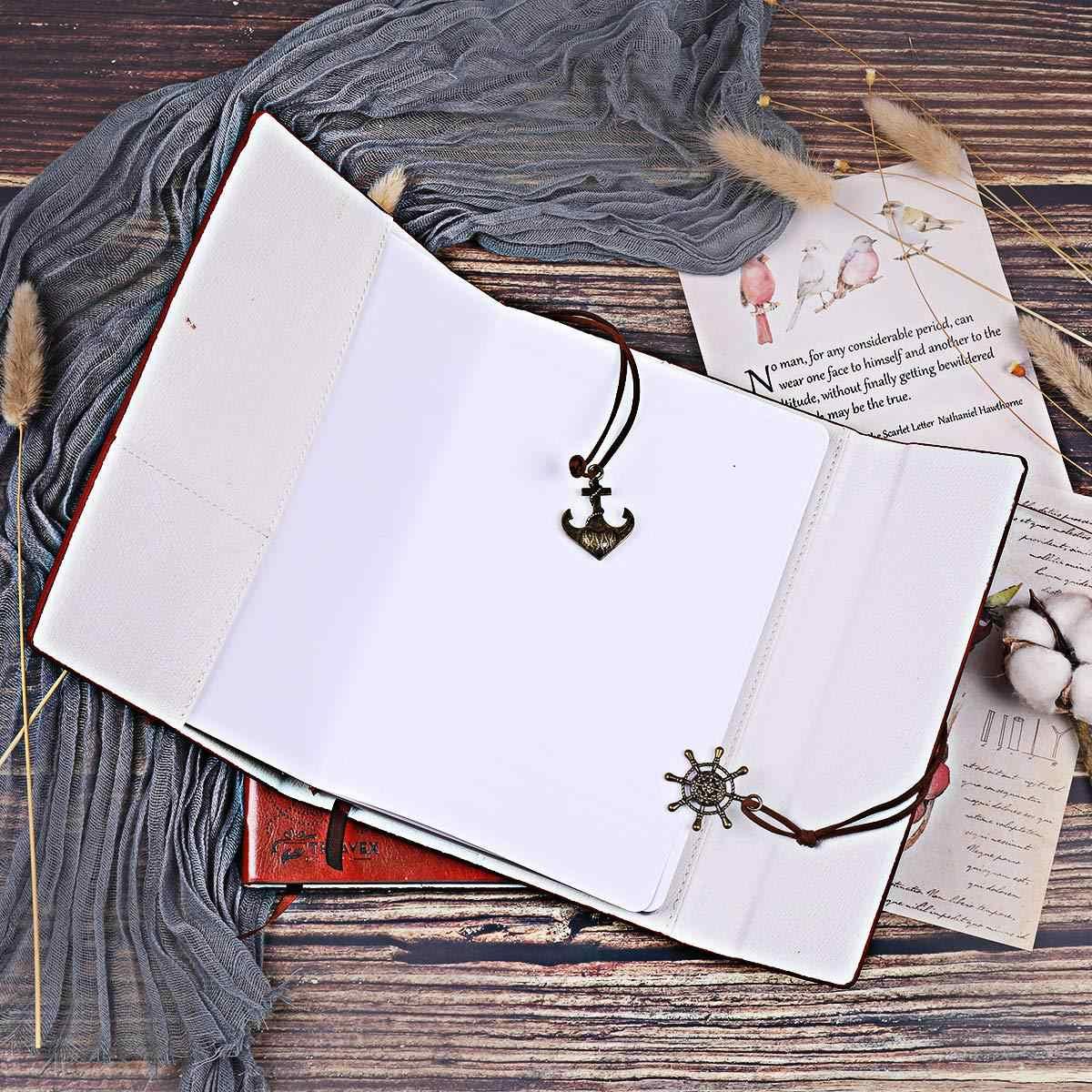 Sáng Tạo 2020 Mẹ Con Gái Xách Tay Tặng Lọ Họp Xách Tay Nhật Ký Notepad Vintage Cướp Biển MỎ NEO PU Da Xách Tay