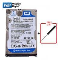 """WD marque 320Gb 2.5 """"SATA disque dur interne 320G disque dur HD 3-6 Gb/s 5400 RPM-7200 RPM disque dur bleu pour ordinateur portable livraison gratuite"""
