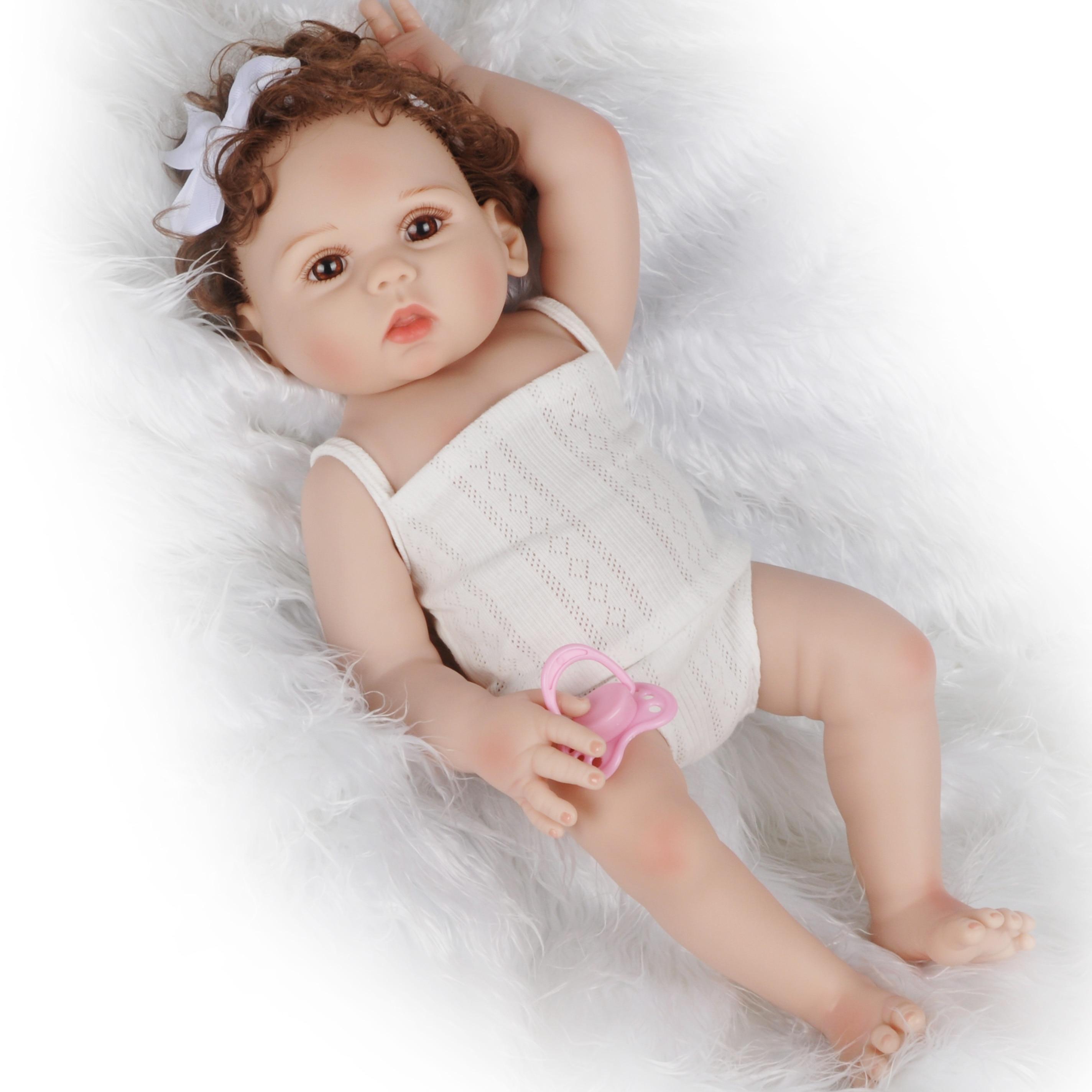 18 polegada 47cm reborn bebê boneca completa silicone bebe bonecas realista vivo bebê menino presente de natal brinquedos para crianças