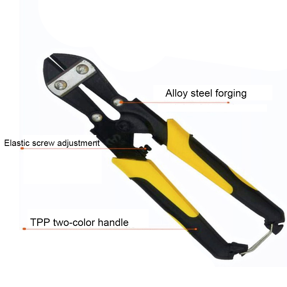8inch Pliers Anti Slip Handle Alloy Steel Cable Industrial Ergonomic Bolt Cutter Wire Shears Labor Saving Manual Mini Tool