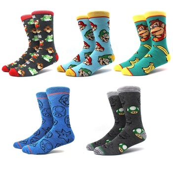 5 pairs/pack cartoon rabbit sock casual hip hop creative soft comfortable funny novelty men cotton calcetines hombre divertido