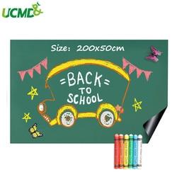 200x50cm, decoración de pared, pizarra verde, pegatina, rollo de imanes, escuela, oficina, escritura de grafiti, tablero de mensajes de aprendizaje