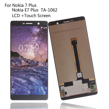 Original For Nokia 7 Plus 7Plus LCD Display Touch Screen Digitizer Repair Parts For Nokia E7 Plus Screen LCD TA-1062 Display for oukitel k6000 plus lcd display touch screen digitizer for oukitel k6000 plus display screen lcd phone parts free tools