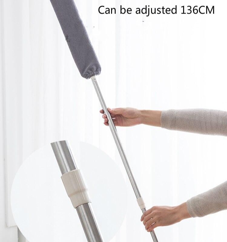 3in1 Corner Cleaning Tool Nook Duster Long Handle Dust Cleaner Floor Brush Easy