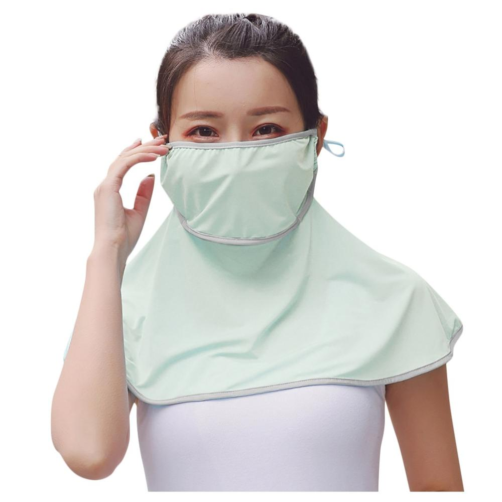 Face Mask Dustproof Sunscreen UV SunshadeNeck Protector Ice Silk Protection Against Dust Hedging Bib Multifunctional