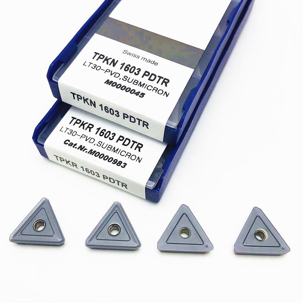 TPKR1603 PDTR LT30 Высококачественная твердосплавная вставка TPKN1603 режущий инструмент токарный станок с ЧПУ Токарный Инструмент TPKR