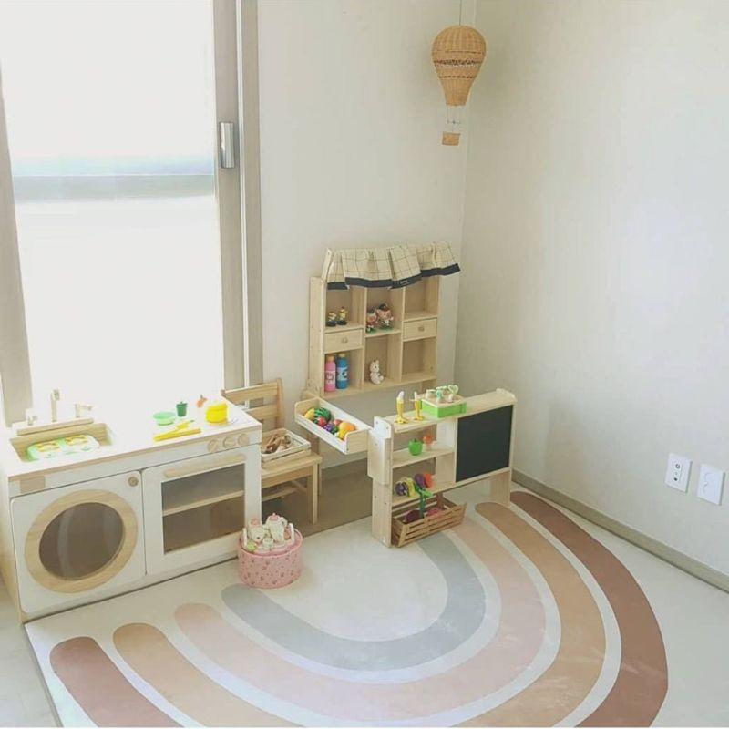 Baby Infant Play Floor Mat Crawling Blanket Carpet Rainbow Children Playmat Rug F3ME