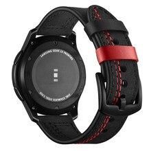 Correa de cuero Gear S3 frontier para Samsung Galaxy watch, 46mm y 22mm, banda para reloj amazfit gtr de 47mm para huawei watch gt