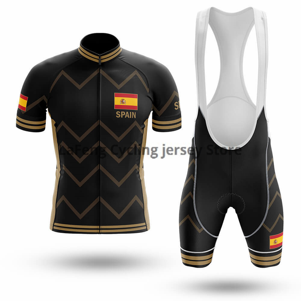 2020 Spain Ropa Ciclismo Cycling Jersey Bib Shorts Set Gel Pad Mountain Cycling Clothing Suits Outdoor Mtb Bike Clothing Maillot