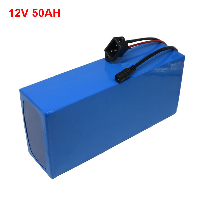 500W <font><b>3S</b></font> 12V 50AH lithium 18650 <font><b>Battery</b></font> <font><b>pack</b></font> with 12.6V 5A Charger for LED Light / CCTV Camera free shipping image