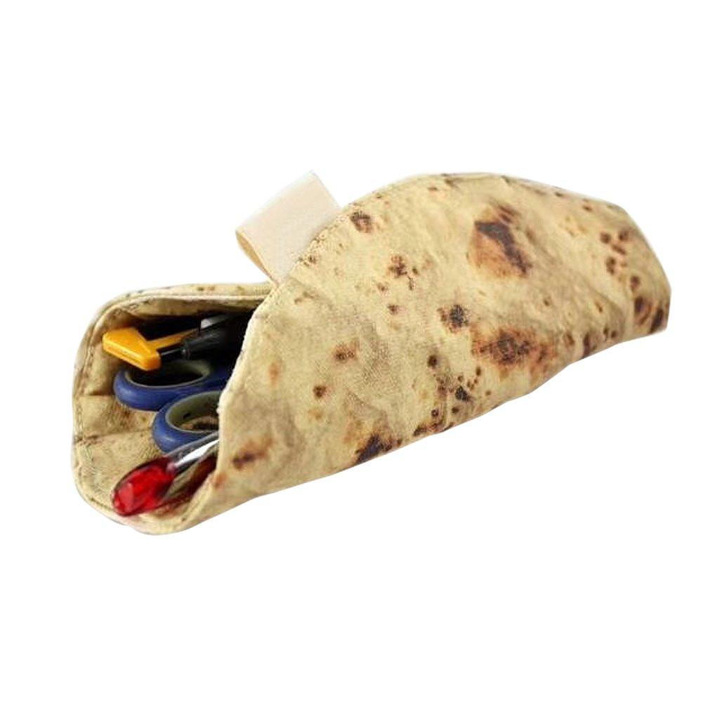 Roll Pencil Case Burrito Storage Bag Funny Burrito Tortilla Roll Pencil Case Pen Pouch School Supplies #BW