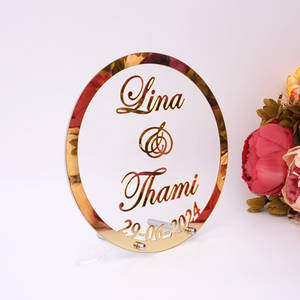 Party-Decor Sign Mirror-Frame Nail-Guests-Favor-Gift Custom Wedding-Name Acrylic Babyshower-Word
