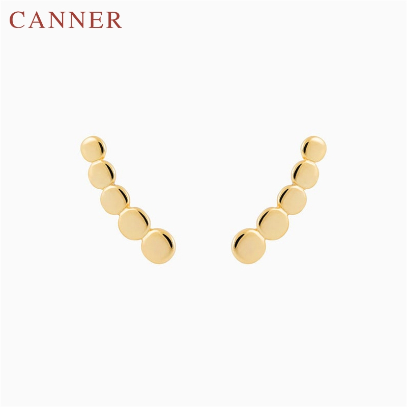 Minimalist Cute Zircon 925 Sterling Silver Stud Earrings for Women Simple Personality Geometric Studs Earings Fashion Jewelry