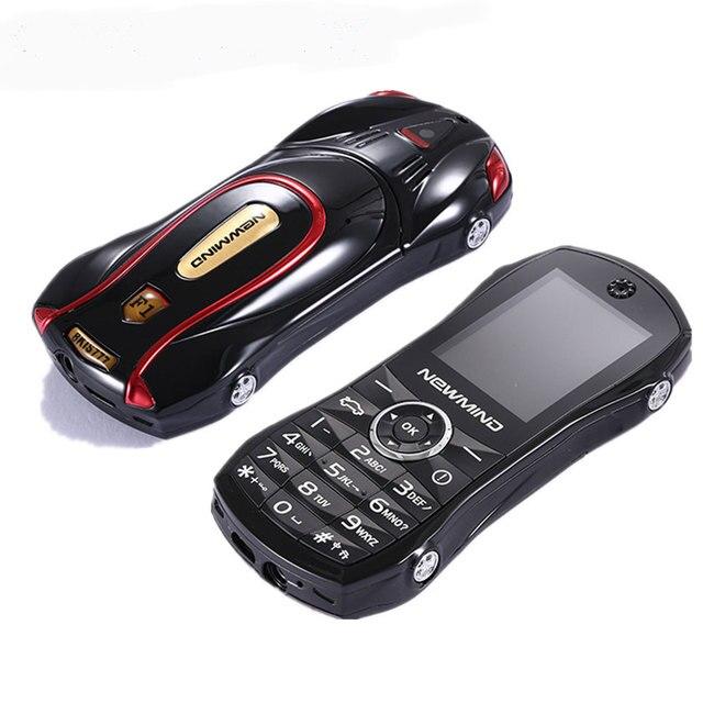 Newmind 2G GSM נעילת רכב צורת מיני טלפון SOS מהיר חיוג ספר אלקטרוני משחק Bluetooth נמוך קרינה 3.5mm שקע ילד תלמיד נייד