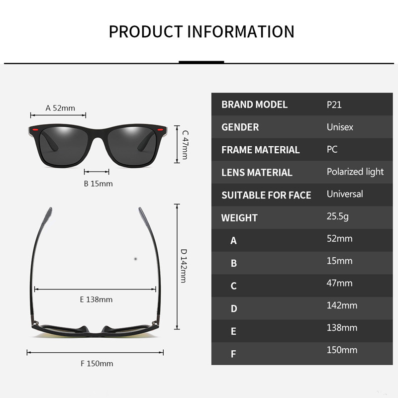 Classic Polarized Men Sunglasses Brand Designer Outdoor Driving Square Plastic Male Sun Glasses UV400 Gafas De Sol 3