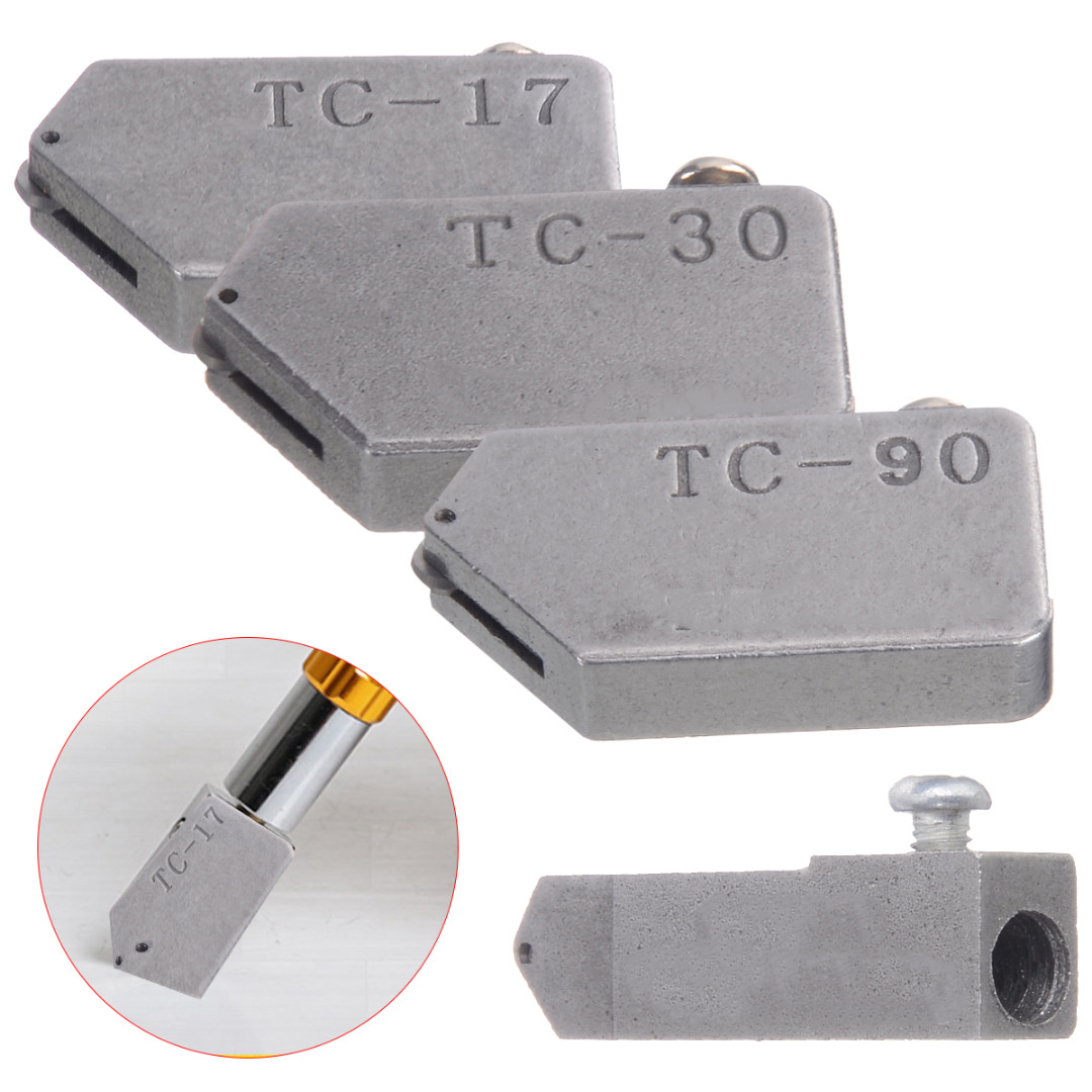4 Different Sizes Glass Cutter Head Alloy Glass Straight Cutting Tile Cutter Head Replacement TC-17 TC-30 TC-10 TC-90