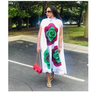 Image 2 - African Dresses For Women African Clothes Africa Dress Print Dashiki Ladies Clothing Ankara Plus Size Africa Women Dress