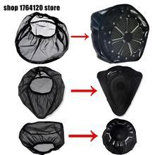 Черные Водонепроницаемые носки от дождя для Harley Sportster XL 883 1200 Touring Street Road Glide Dyna Softail, комплекты для Очистки Воздушного Фильтра