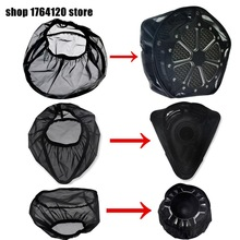 Black Waterproof Rain Sock For Harley Sportster XL 883 1200 Touring Street Road Glide Dyna Softail For Air Filter Cleaners kits