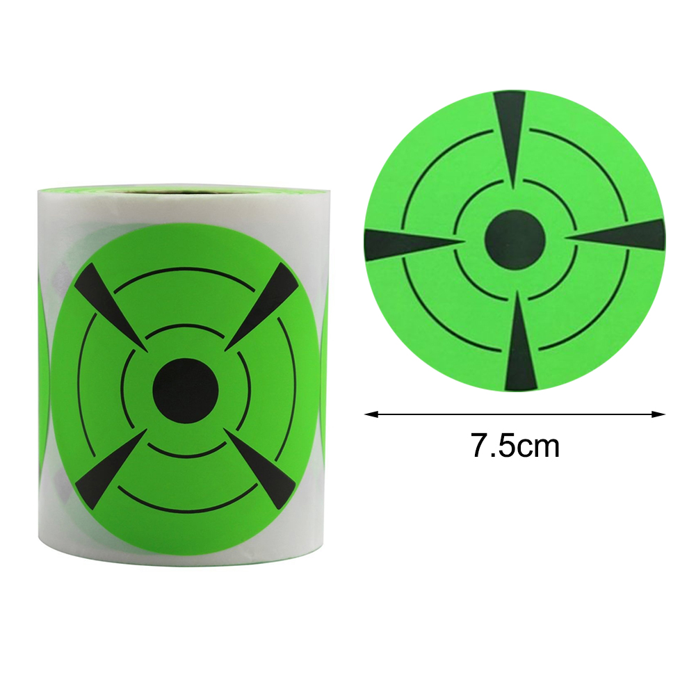 125Pcs/roll Outdoor Shooting Practice Targets Stickers Black Green 7.5 Cm Splatter Target Shooting Exercises Stickers Set