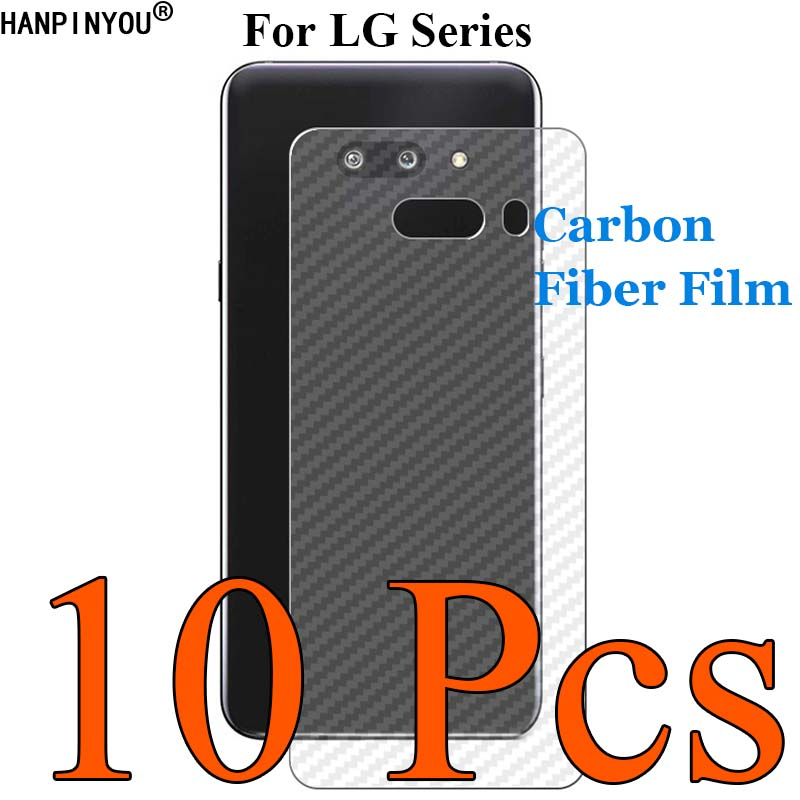10 Pc/Lot For LG G8X V50S V50 Thinq 5G V30 Plus V30s Q60 K11 G7 W10 W30 3D Carbon Fiber Back Film Skin Screen Protector Sticker