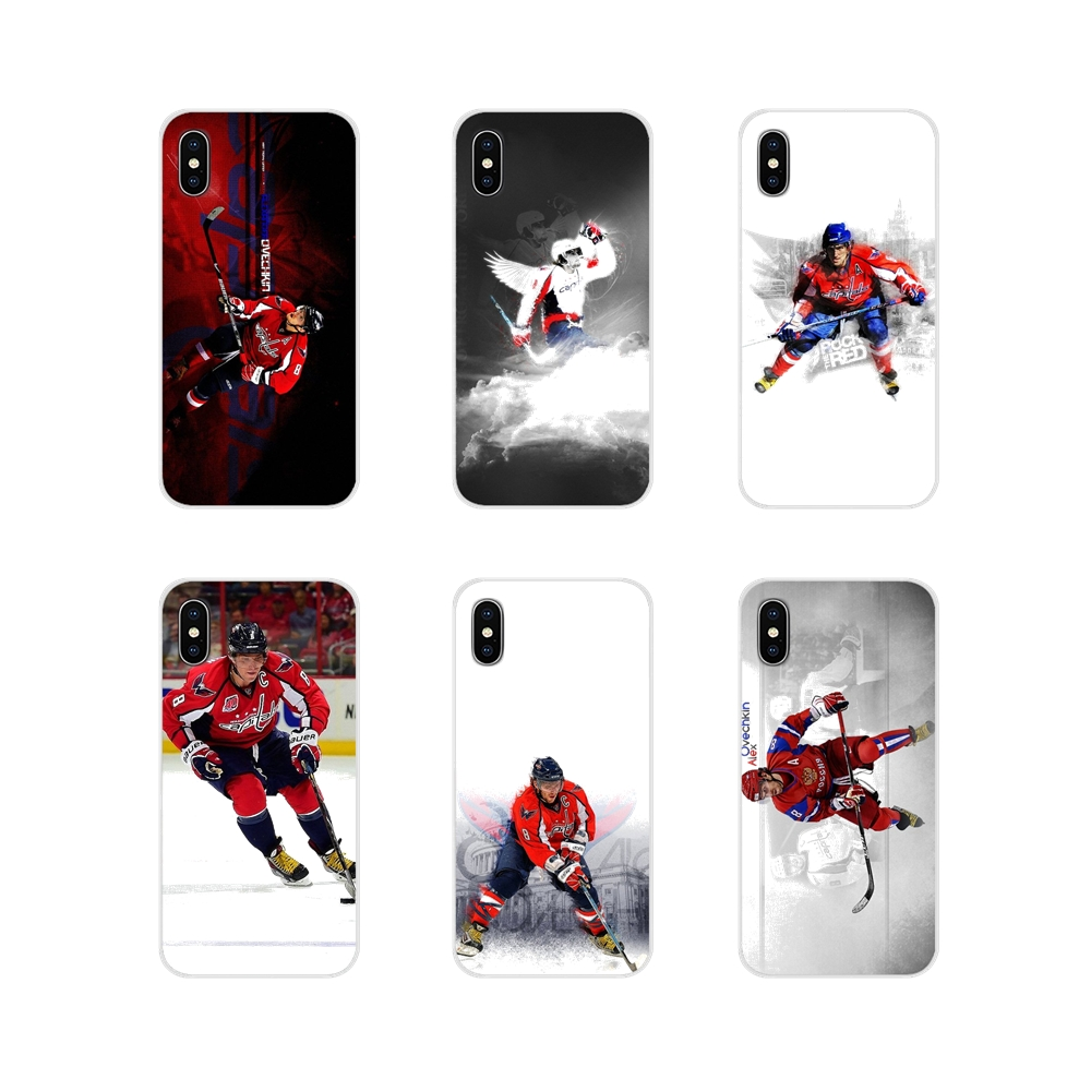 Soft Transparent Shell Cover For Xiaomi Redmi Note 3 4 5 6 7 8 Pro Mi Max Mix 2 3 2S Pocophone F1 Alexander Ovechkin hockey Star(China)