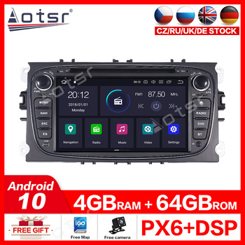 Android10.0 4GB+64GB Car Multimedia player GPS Autoradio For FORD/Focus/Mondeo/S-MAX/C-MAX/Galaxy Stereo Radio Multimedia play image