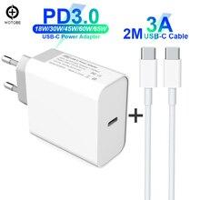 """USB C כוח מתאם פ""""ד/QC3.0 65 W/60 W/45 W/30 W TYPE C קיר מטען, עבור USB C מחשבים ניידים/MacBook/iPad/xiaomi/סמסונג (USB C כבל)"""