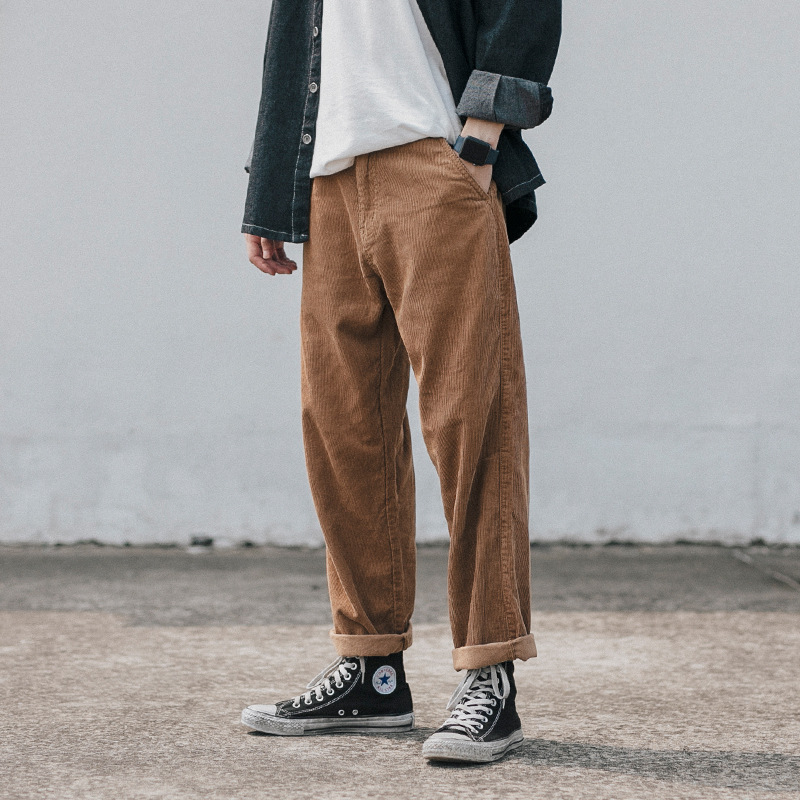 Vertical Ze Produced 18aw National Trends Origional Winter Men Corduroy Trousers
