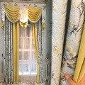 Высококачественные европейские жаккардовые хлопковые и пеньковые шторы для гостиной столовой спальни.