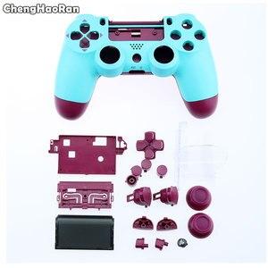 Image 2 - ChengHaoRan מלא מעטפת עם כפתורי Mod ערכת עבור Sony PS4 פרו Slim 4.0 V2 JDS 040 JDM 040 בקר דיור פגז מקרה כיסוי
