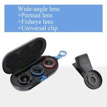SIRUI Lente Mobile Esterno ad alta definizione SLR set di mirror cellulare universale obiettivo Macro obiettivo da ritratto wide angle fisheye lente