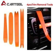 Clipe de porta automática painel guarnição kits de ferramentas de remoção de desmontagem do carro ferramentas interior do carro plástico ferramenta de conversão de gangorra 4 pçs/set