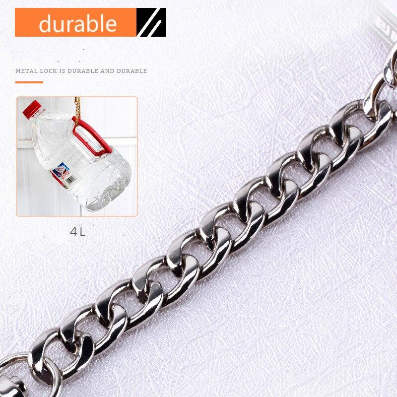 Long 120cm/100cm Metal Purse Chain Strap Handle  Handle Replacement For Handbag Shoulder Bag 4 Color