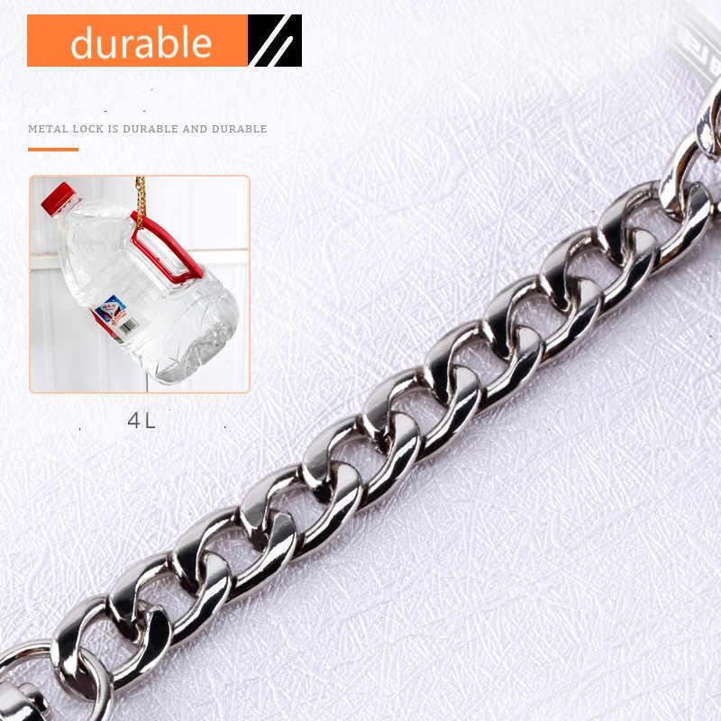 Sostituzione lunga della maniglia della maniglia della cinghia della catena della borsa del metallo 120cm/100cm per la borsa a tracolla della borsa 4 colori
