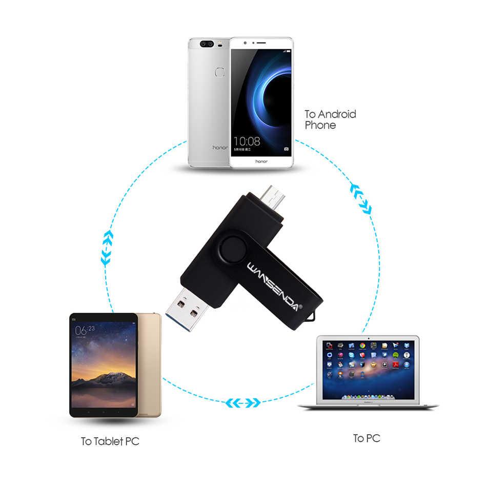 新 usb 3.0 wansenda otg usb フラッシュドライブスマートフォン/タブレット/pc 8 ギガバイト 16 ギガバイト 32 ギガバイト 64 ギガバイト 128 ギガバイト 256 ギガバイトペンドライブ高速ペンドライブ