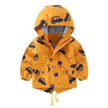 Baby Coat Kids Jacket Toddler Boy Girl Cartoon Hooded Warm Outwear Free Ship куртка детская Z4