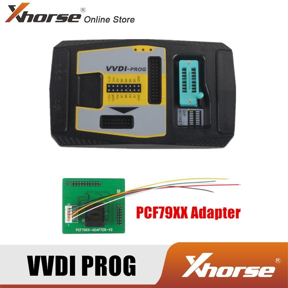 Программатор Xhorse VVDI PROG V5.0.1 VVDI PROG с адаптером PCF79XX, высокоскоростной USB-интерфейс связи, умный режим работы