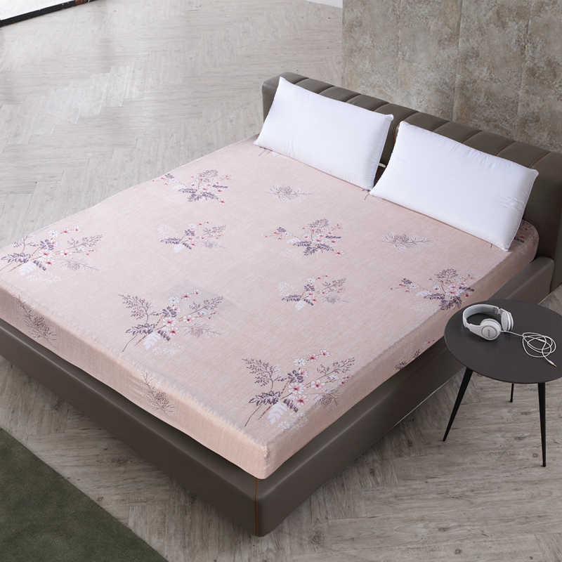 Dreamworld 100% Polyester Printed Fitted Sheet Hot Sale Bed Cover Linens with Rubber Band Soft Protector Pad