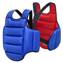 лучшая цена Taekwondo Chest Guard Boxing Kickboxing MMA Body Protector WTF Reversible Rib Shield Armour Target Training Uniform Adult Child