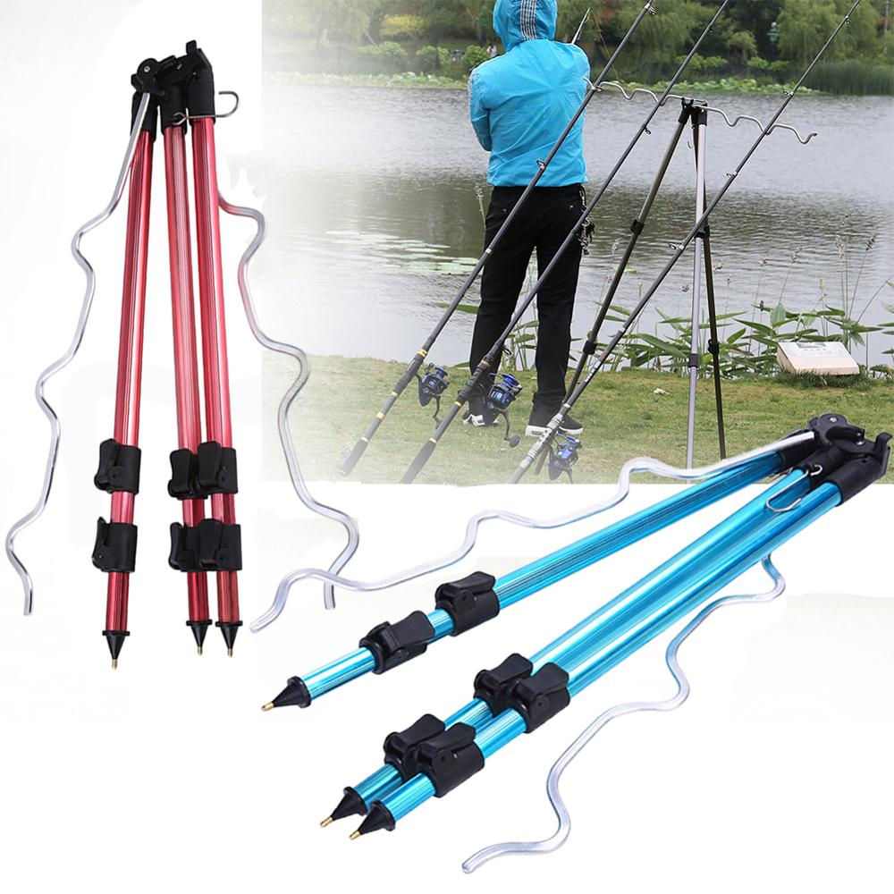 Telescopic Tripod Bracket Aluminum Alloy Fishing Tripod Holder Night Fishing Light Bracket Fishing Rod Support