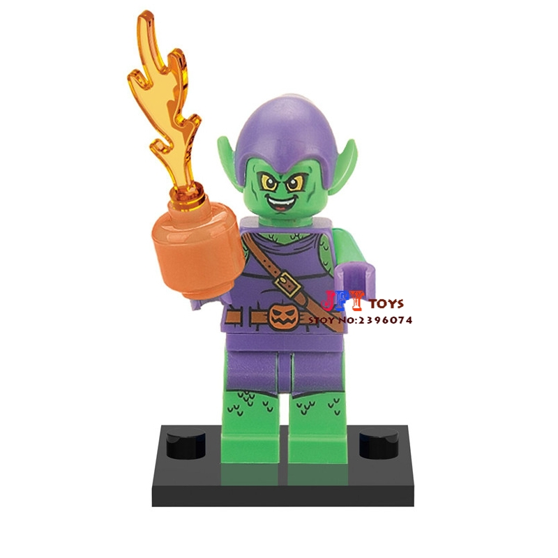 Single Sale Superhero Green Goblin Building Blocks Model Bricks Toys For Children Action Figures
