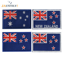 Embroidery Flag of Australia New Zealand Patches for Clothes Backbag Armbands Epaulette Badge Design Jacket Backpack Patch embroidery patch front pocket design jacket