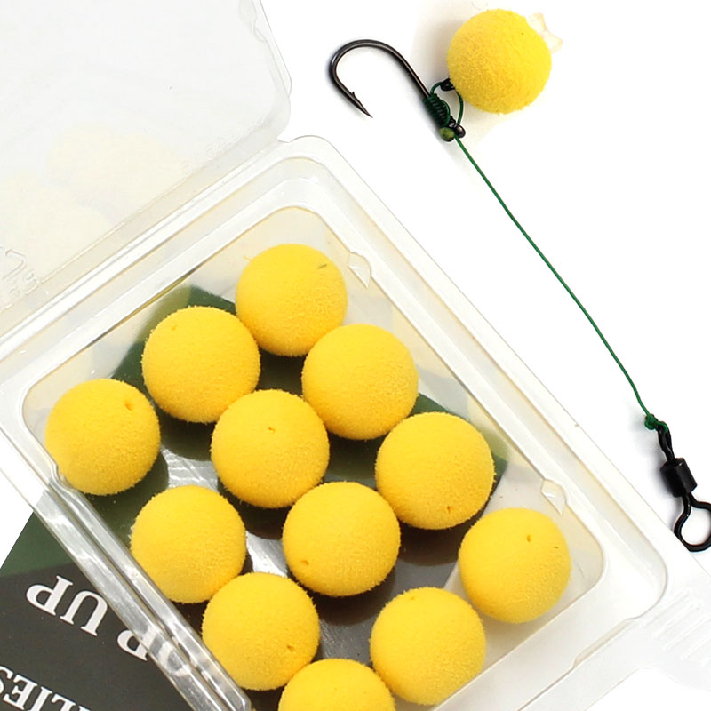 12/15PCS Carp Fishing Accessories Foam Boilies For Zig Rig Hair Chod Ronnie Rig Pop UP Boilies For Carp Fishing Tackle Equipment