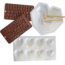 Dia dos namorados molde de coração molde para assar ferramentas de cozimento de chocolate para bolos molde de silicone diy conjunto pan molde de silicone bolo