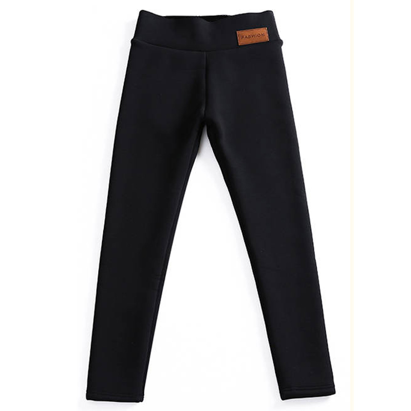 Autumn Winter Thicken Lamb Cashmere Trousers Casual Women's Fashion Slim Feet Pants High Waist Stretch Warm Pants Plus Size